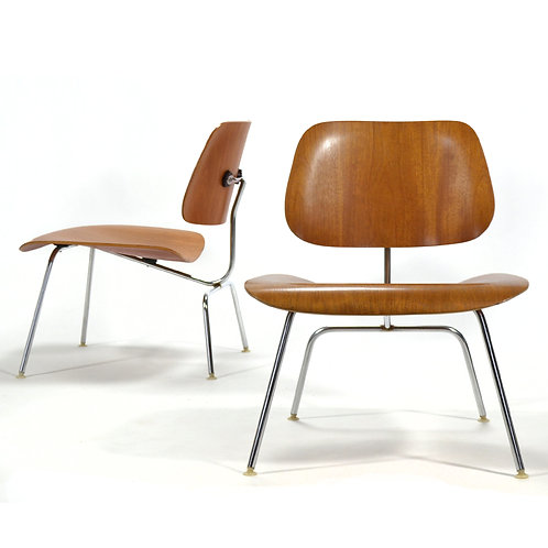 Pair of Teak Eames LCM Lounge Chairs