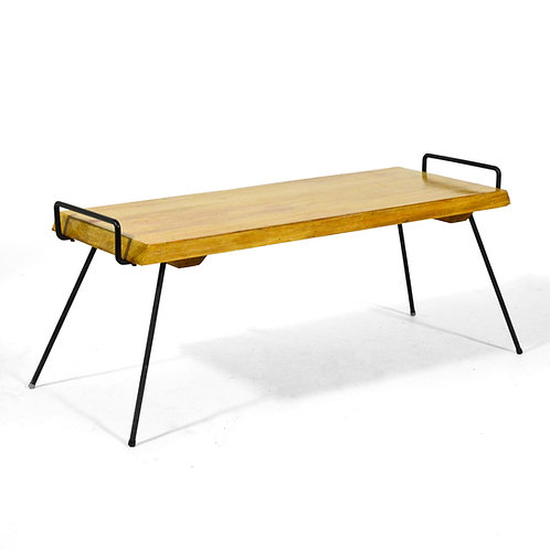 Wood Bench / Table with Iron Legs