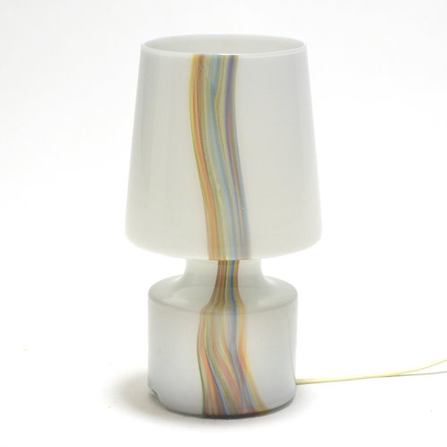Laurel Glass Lampwith Ribbon Inclusion