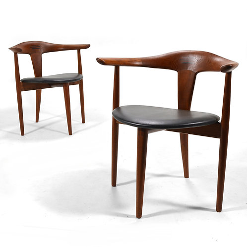 Pair of Erik Andersen and Palle Pedersen Easy Chairs