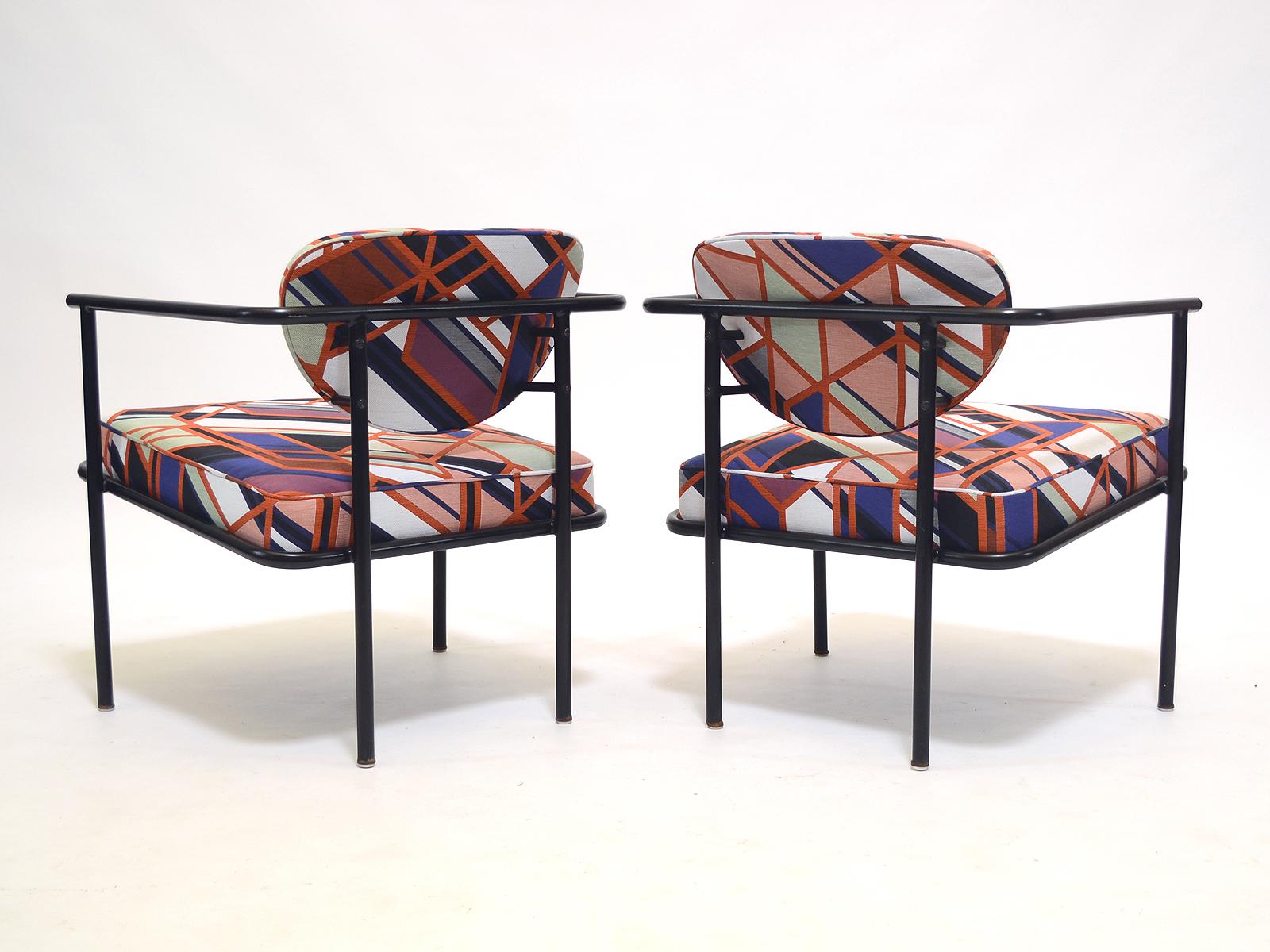 Metal Frame Lounge Chairs