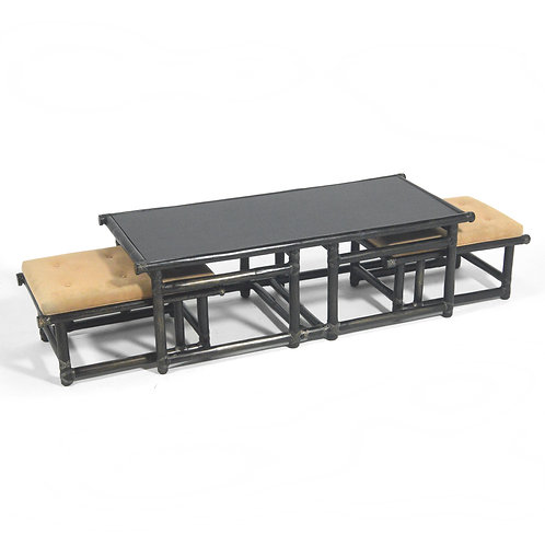 John McGuire Model 57-3 Table and Nesting Benches