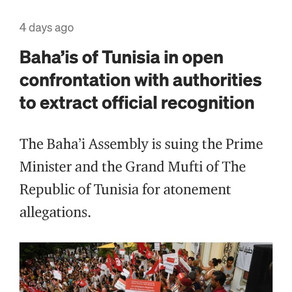 Baha'is of Tunisia in open confrontation with authorities to extract official recognition