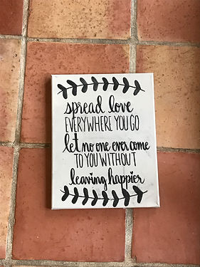 Hand- Lettered Mother Teresa Quote Canva