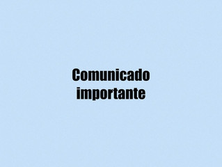 Comunicado Importante - Pandemia