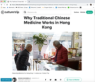 Culture Trip. April 2019. Why Traditional Chinese Medicine Works in Hong Kong