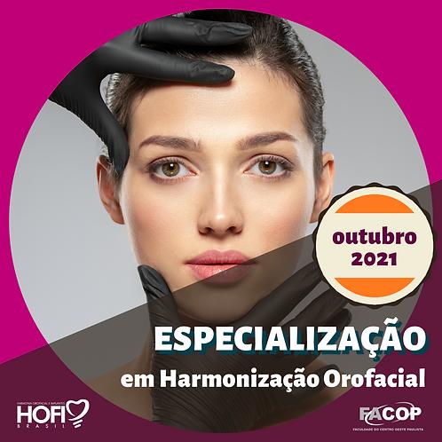 ESPECIALIZAÇÃO em HARMONIZAÇÃO OROFACIAL - Início OUT/2021