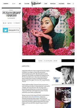 Interview Magazine - Yuna's Night Vision