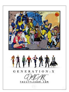 THESTYLEDOM_Generation X_Characters_Comic_Art