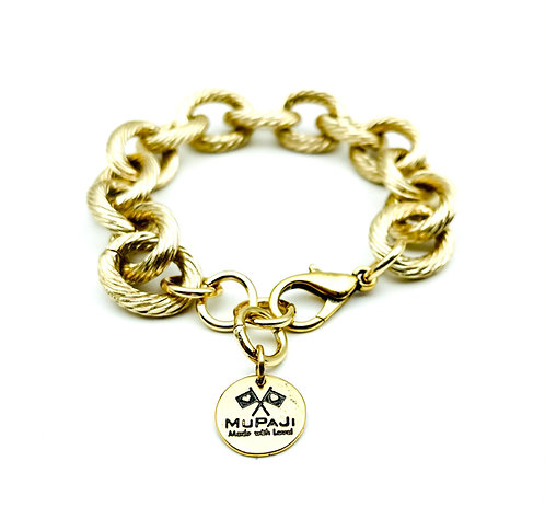 Bracciale Catena Zigrinata Gold