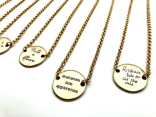 Collana Corta Centrale Tondo Gold