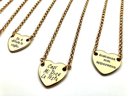 Collana Corta Centrale Cuore Gold