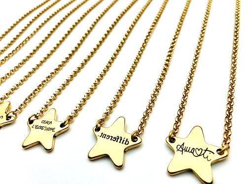 Collana Corta Star Centrale Gold