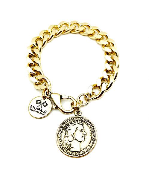 Bracciale Groumette Moneta Antica Gold Small
