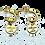 Thumbnail: Orecchino Mini Creola Gold con Ciondolo e Frase
