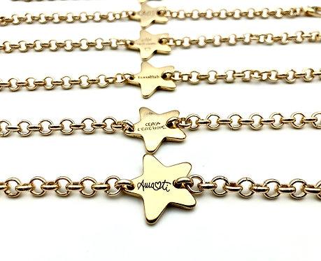 Mini Bracciale Star Centrale Gold