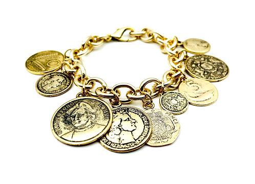 Bracciale Multi Monete Antiche Gold