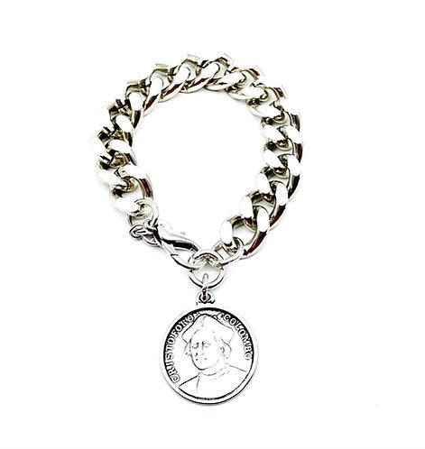Bracciale Groumette con Moneta Antica Silver Medium