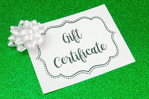 Gift Certificate - 1 Hour Private Lesson