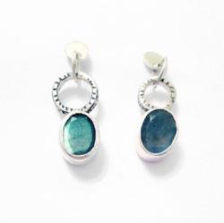 3 tier earrings with labradorite