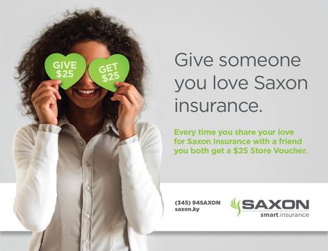 Saxon Insurance Promotional Campaign