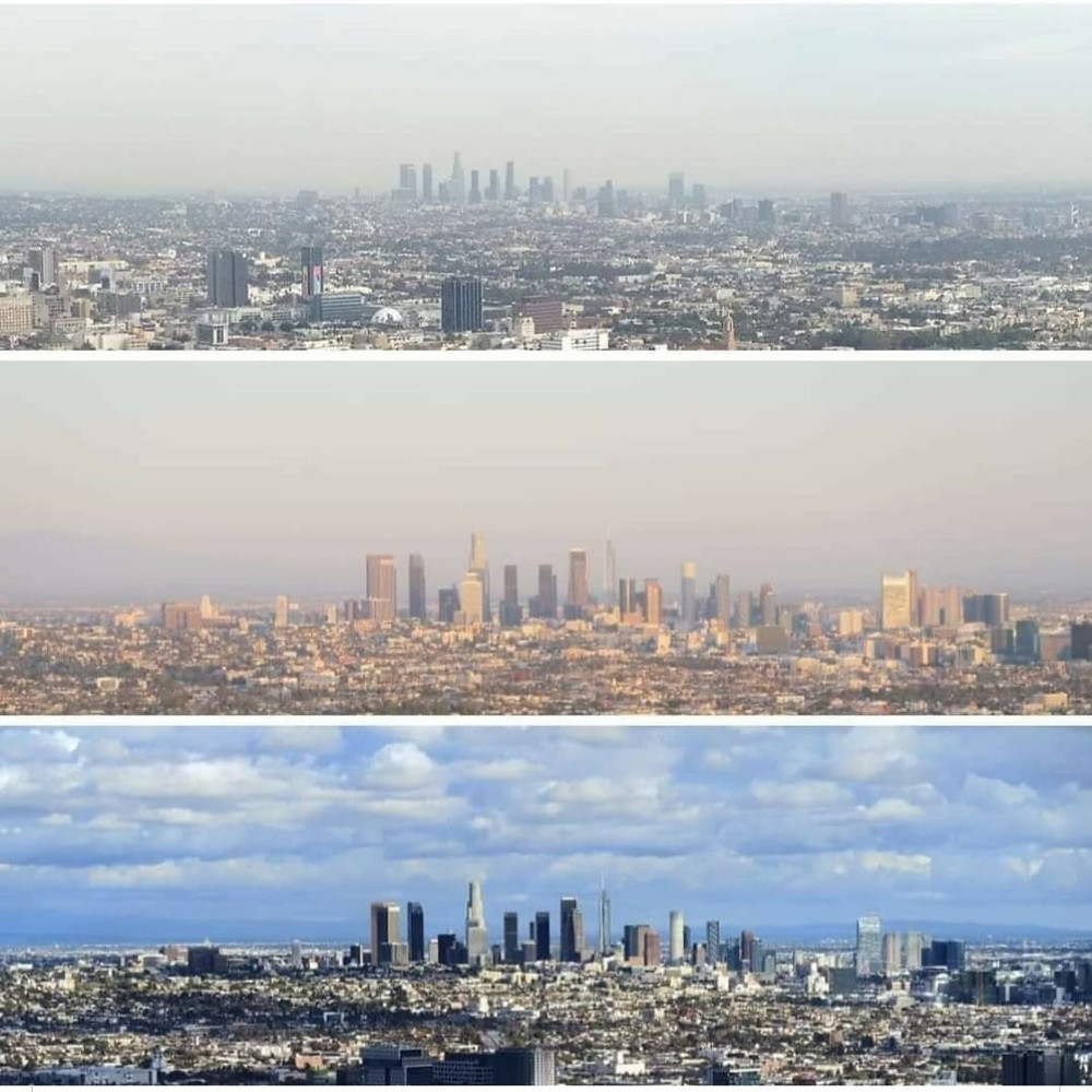 Los Angeles pollution is getting better since the lockdown