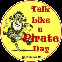 """Talk like A Pirate Day"" with Zenobia."