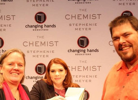 The Geode Press crew at Stephenie Meyer's book signing.