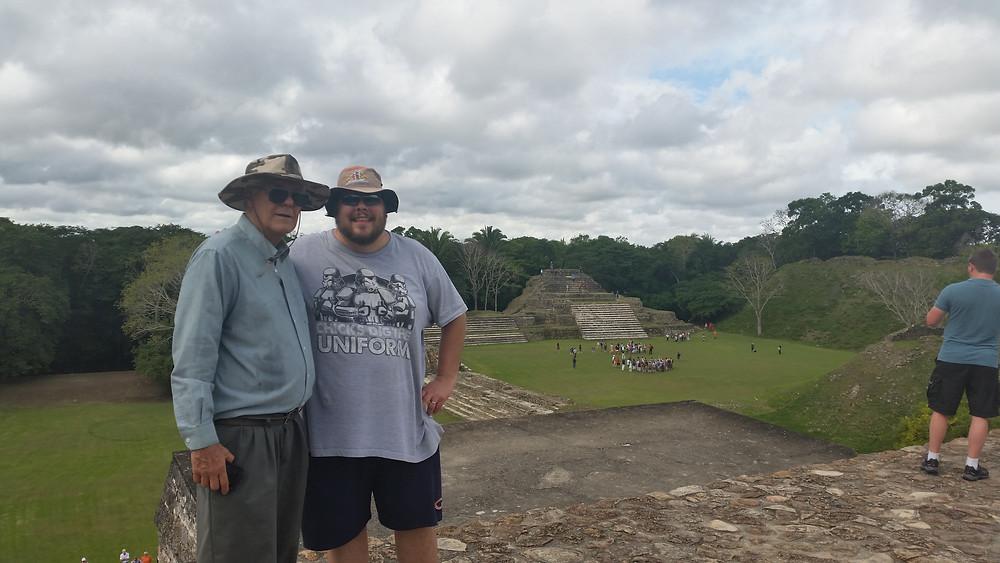 Temple Mayan Ruin in Belize