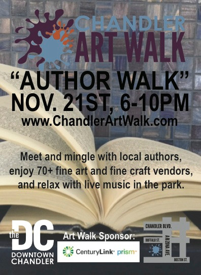 "Come visit with the Zenobia crew this Friday at the Chandler ""Author Walk"""