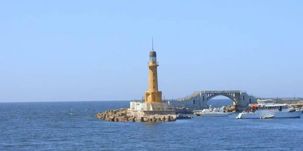 The Lighthouse of Alexandria, one of the Seven Wonders of the Ancient World