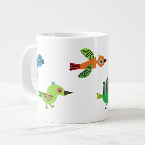 Multi Birds, Jumbo Mug