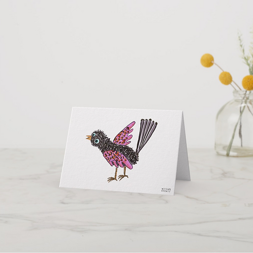 Pink Bird Notecard