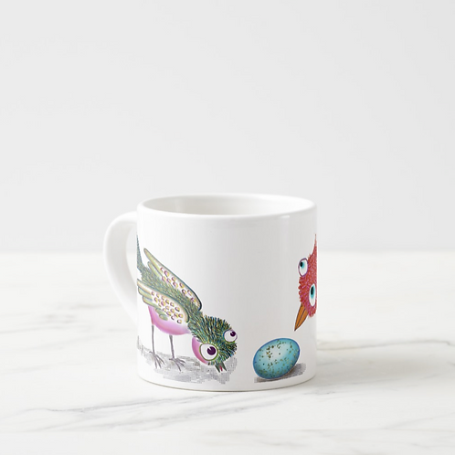 Who? What ? Red Bird Espresso Cup