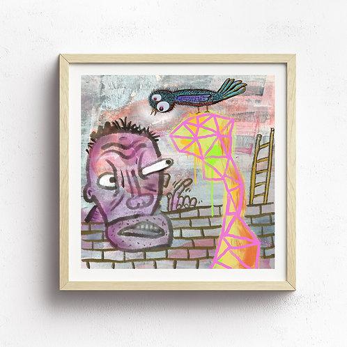 """""""Wayward Friend"""" Print Framed"""