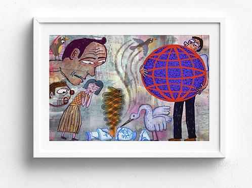 """""""Fragile"""" Print Framed"""