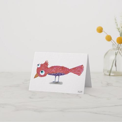 Red Bird Notecard