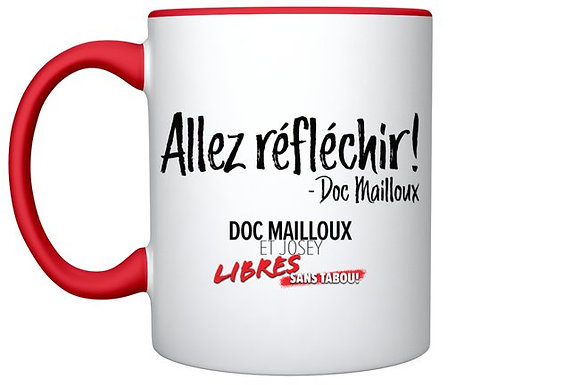 Mug '' Go think about it '' - red