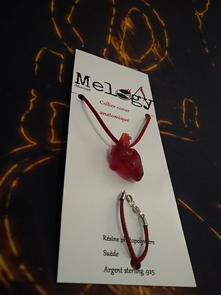 Anatomical Heart Necklace .925 Silver