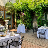 Reception in Courtyard