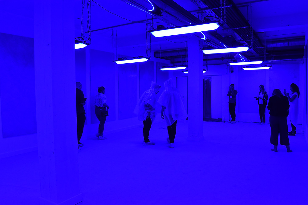 Blue Light in a Space @ Clerkenwell Design Week - photography by Sabi Kiesel