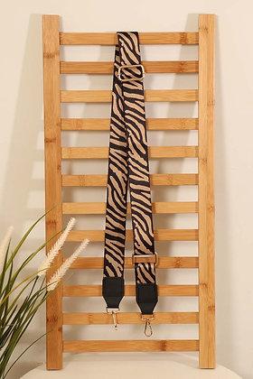 Zebra Print Bag Strap BEIGE