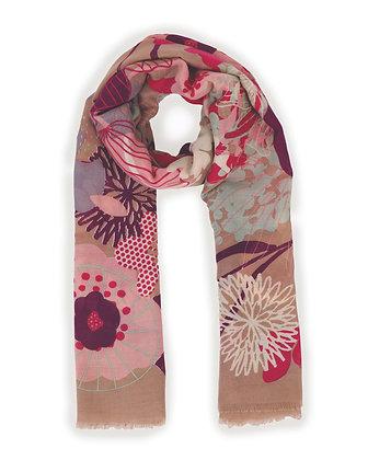 POWDER Modern Floral Print Scarf