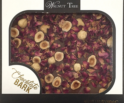 Milk Slab with Rose Petals and Nuts