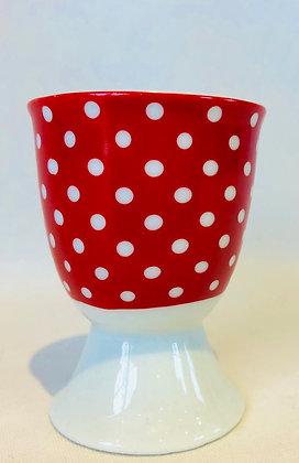 Red Polka Dot Egg Cup
