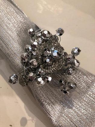 Silver Spray Sparkle Napkin Ring