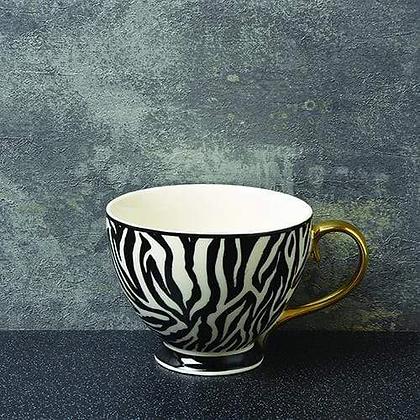 CANDLELIGHT Zebra Print Footed Mug