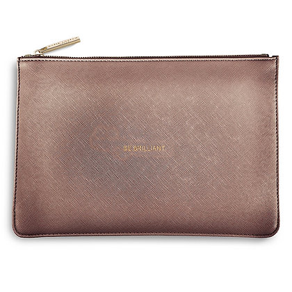 BE BRILLIANT PERFECT POUCH - ROSE GOLD