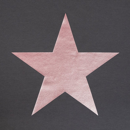 CHALK Robyn Charcoal Top With Rose Gold Star
