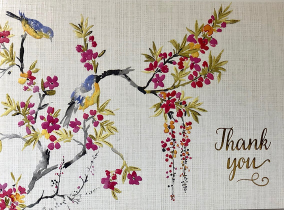 Blossom And Bluebirds Thank You Notes